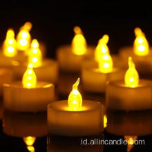 Tea Light Flameless LED, Lilin Bertenaga Baterai